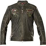 Affliction Lederjacke Fast Motors Schwarz, L