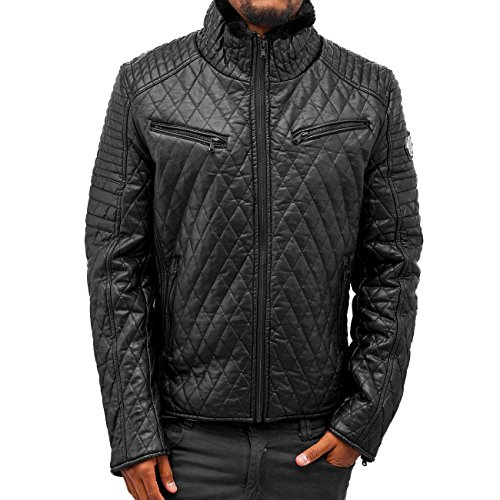 Red Bridge Herren Lederjacke Action II schwarz schwarz M