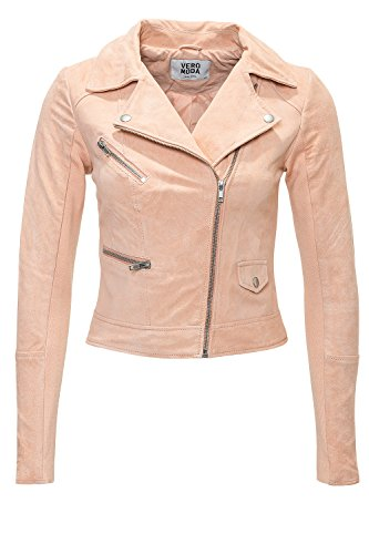 Vero Moda Damen Wildleder-Jacke Marli Short Suede Jacket Rosa (Tropical Peach))