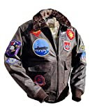 Top Gun Mavericks Fliegerjacke, Stierleder (3XL)