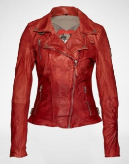 FREAKY NATION Bikerjacke aus Leder ´Real Love´ Damen rot