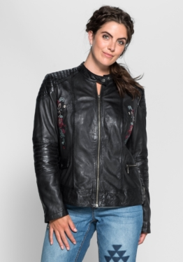 Joe Browns Lederjacke im Biker-Stil