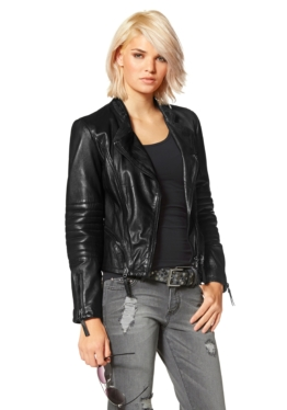 Laura Scott Lederjacke im Bikerstil