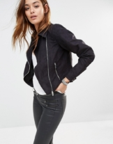 Noisy May - Bikerjacke in Wildlederoptik - Schwarz