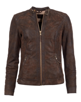 TOM TAILOR Lederjacke, Damen 16-15