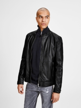 Jack & Jones Minimale Lederjacke