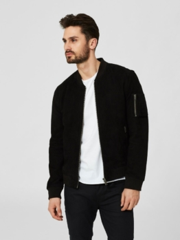 Selected Homme Wildleder- Lederjacke